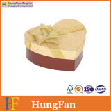 Коробка сердца изготовленный на заказ подарка кольца ожерелья вахты ювелирных изделий упаковывая с тесемкой