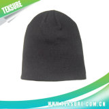 A cor contínua fêz malha/o chapéu Beanie do Knit com bordado do logotipo (007)