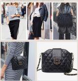 Shoulder Handbag della retro di vibrazione di ultimo modo di estate della molla del cuoio genuino della catena signora