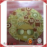 Nette Shaggy Teppich-Kreis-Drucken-Fußboden-Gleitschutzmatte