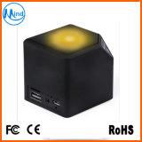Mini altofalantes Multi-Functional de Bluetooth com o cubo da água de luzes do diodo emissor de luz