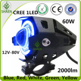 Linterna de la motocicleta LED de la viga 60W del doble de la linterna de la motocicleta de U7LED