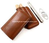 Qualitäts-lederne Zigarre-Luftfeuchtigkeitsregler-Zeder/Zigarrenschachtel