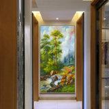 Peinture à l'huile en gros de décoration de qualité, belle peinture à l'huile d'arbre de pin