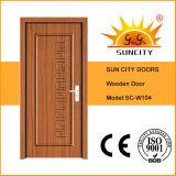Porte de salle de peinture blanche, porte en bois simple