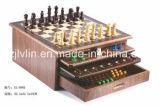 Conbination Schach-Spiel-hölzerne Spiel-Spielwaren