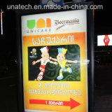 Panneau-réclame extérieur de drapeau de Lightbox de défilement de la publicité DEL de train de métro de souterrain de route