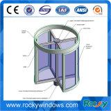 Manuelle oder automatische rotierende Glastür