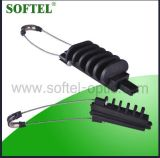 Pacote a braçadeira de tensão do cabo da antena