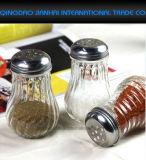 卸し売り塩、コショウのシェーカーのガラススパイスのびん
