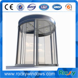 Porte de verre tournante manuelle ou automatique