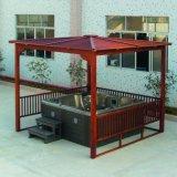 Gazebo di legno esterno impermeabile della STAZIONE TERMALE della vasca calda di vendita calda (SR883)