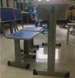 Mesa ajustável ajustável em altura e cadeira para escola