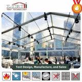 20X30m 500 Leute-Zelt-Material Kurbelgehäuse-Belüftung transparent für Verkauf