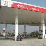 Tankstelle des doppelten Öls - vier Düsen - vier Bildschirmanzeige - vier Strömungsmesser