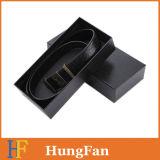 Schwarzer Luxuxentwurf mit heißem stempelndem Firmenzeichen-Geschenk-verpackendem Papierkasten
