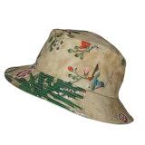 卸し売り花の印刷の綿のバケツの帽子