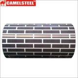 벽돌 패턴을%s 가진 인쇄한 PPGI는 또는 Prepainted 직류 전기를 통한 강철 코일 또는 색깔 건축을%s 강철 코일을 입혔다