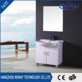 Современный дизайн небольшого размера ПВХ напольная стойка зеркала в ванной комнате шкафа электроавтоматики