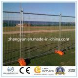 Temporärer Zaun mit konkreter Unterseite und Schellen für Verkauf