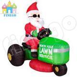 Im Freien aufblasbare Weihnachtsmann-westliche Rasen-Service-Dekorationen