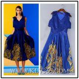 Женщины уже давно Embroider моды вечерние платья