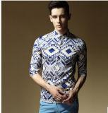 Camisa do lazer dos homens novos do estilo da forma
