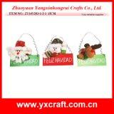 Punto esterno di uso del regalo della decorazione di natale della lavagna di natale della decorazione di natale (ZY11S80-1-2)
