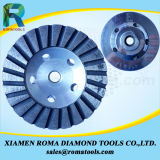 """La cuvette de diamant de Romatools roule de diamètre 4 """" pour le granit, marbre, concret"""