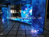 La visualizzazione di LED flessibile del cilindro si è applicata in Cabina-Galaxias P6
