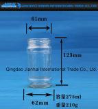Tarro de cristal del atasco del claro de la impresión de la pantalla
