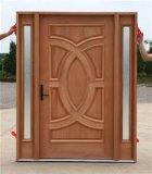 Porta de madeira sólida para a porta exterior do interior da casa