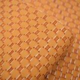 Cuoio sintetico giallo del sacchetto dell'unità di elaborazione del reticolo di tessuto di cestino di colore