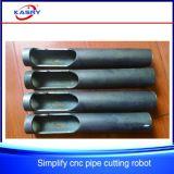 Plasma del CNC del tubo de acero del pórtico del precio/cortadora baratas de llama