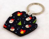 Presentes de madeira promocionais Claw Shape MDF Sublimation Keychain