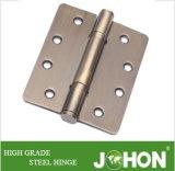 """鋼鉄または鉄のハードウェアのドアの金属のシャワーのヒンジ4 """" X3.5 """""""