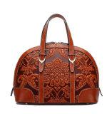 Design elegante em pele genuína de moda bolsas de Shell para coleções de mulher