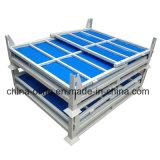 Foldableスタック可能鋼線の網の容器