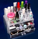 En acrylique transparent l'organisateur d'affichage cosmétiques maquillage