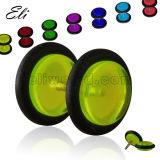 Multicolor UV acrílico translúcido Fake Ear Plug
