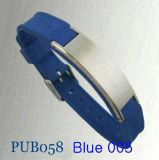 Серебряный Bangle браслеты Pub058 синего цвета