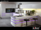 Keukenkast van de Lak van de Hoogste Kwaliteit van het Ontwerp van Welbom de Recentste Witte
