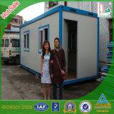 Chambre préfabriquée vivante provisoire de conteneur avec le sous-sol en acier