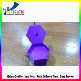 Коробка подарка упаковки конструкции шестиугольника твердая бумажная