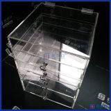 引出しを持つ3/4/5人の層のアクリルのルーサイトのゆとりの立方体の構成のオルガナイザー