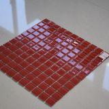 Azulejo de mosaico de cristal rojo de alta calidad para la venta