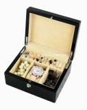Finition Piano Black Watch en bois et des bijoux Coffret cadeau