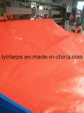 Strato blu/arancione del PE del coperchio resistente durevole della tela incatramata, della tela incatramata