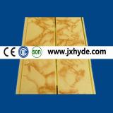 Plafond de PVC de couleur en bois et panneau de mur de estampage chauds