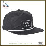 Chapéus não organizados da corda do Snapback da borda lisa de nylon feita sob encomenda do chapéu